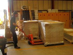 USDA-NRCS materials being prepared for shipment