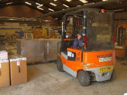 USDA-NRCS materials weigh in at 2.5 tonnes - a forklift is needed!